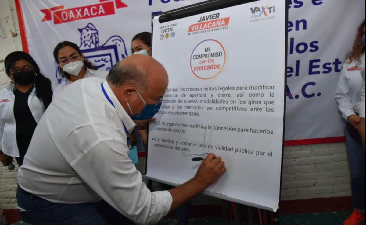 Acuerda Villacaña contribuir al desarrollo de los mercados públicos de Oaxaca de Juárez