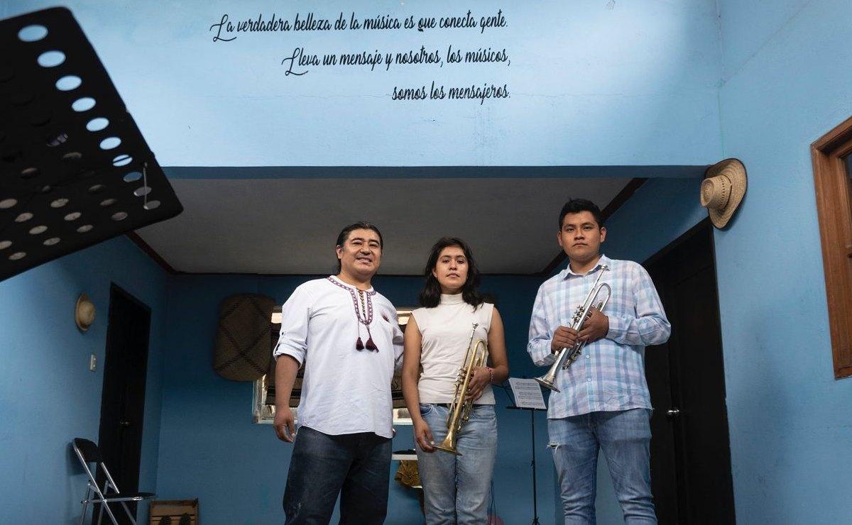 Resiste en Oaxaca la primera academia de trompeta, de la mano de músico ayuujk de Tlahuitoltepec