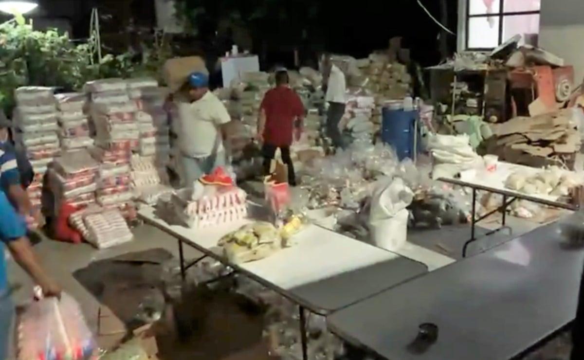 Aseguran 4 bodegas con despensas en Oaxaca, presuntamente para compra de voto este domingo