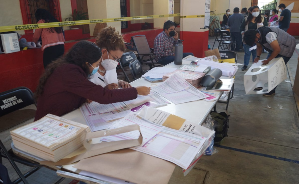 Anula INE boletas robadas en Miahuatlán, Oaxaca, buscan llevar papelería para garantizar derecho al voto