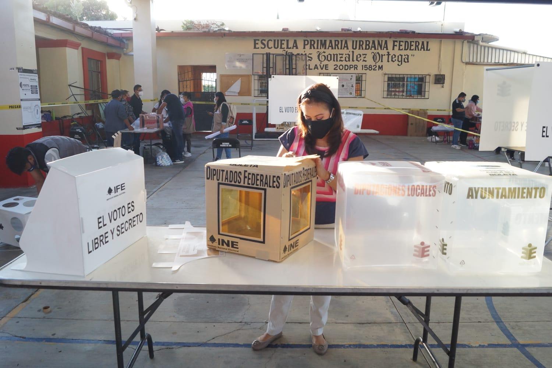 Se ha instalado 75% de casillas en territorio estatal, informa el Instituto Electoral  de Oaxaca