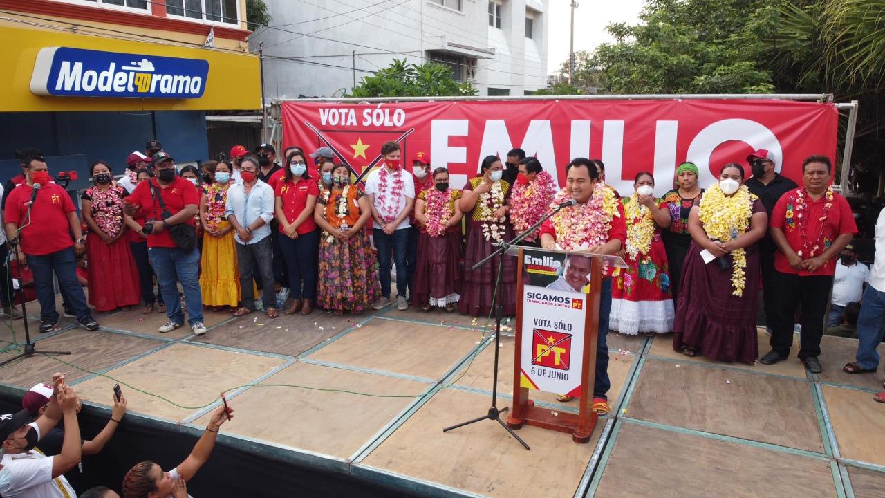 Emilio Montero, candidato del PT llama a sumarse a su gobierno en Juchitán; Héctor Yodo apelará elección