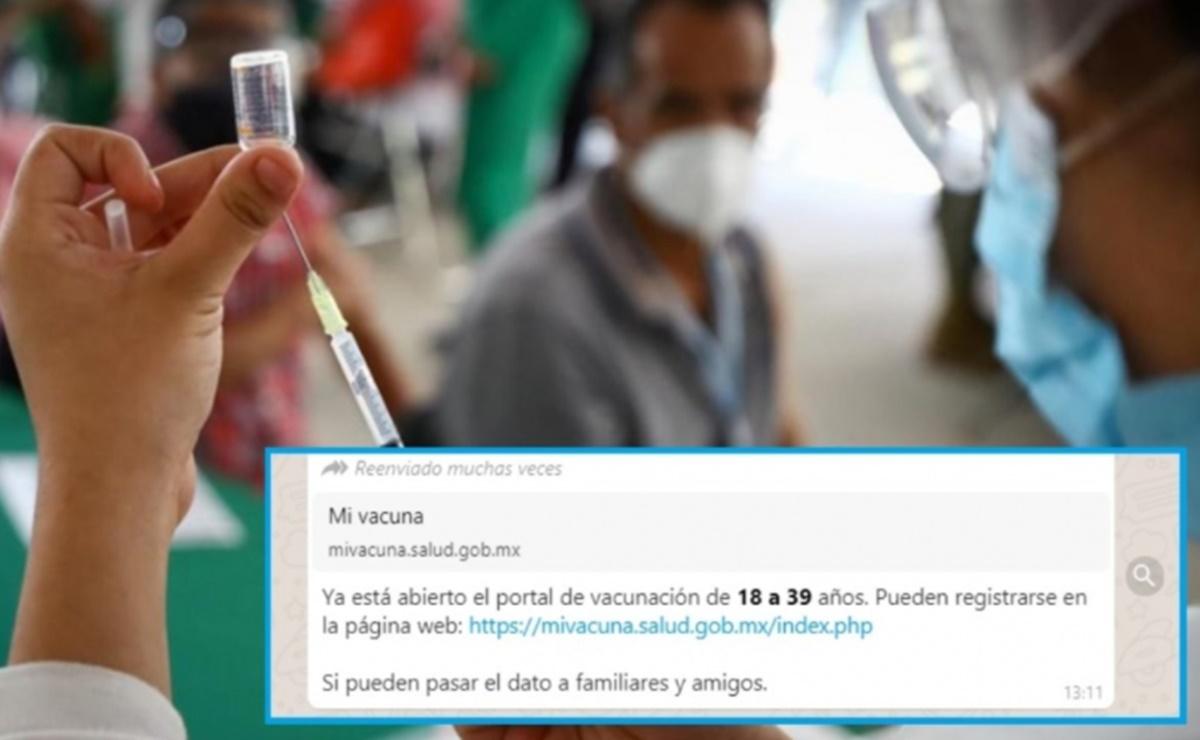 ¿Mayores de 18 años ya se pueden registrar para vacunación contra Covid-19?