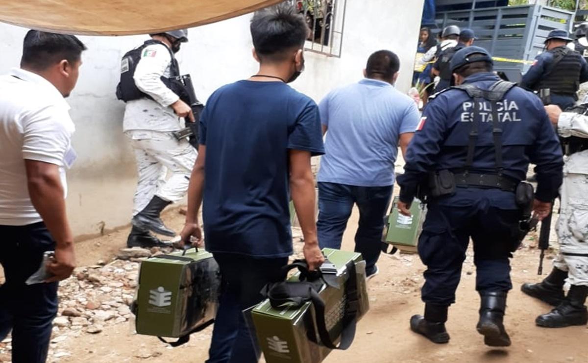 Trasladan paquetería electoral de 11 municipios de Oaxaca, por falta de condiciones de seguridad