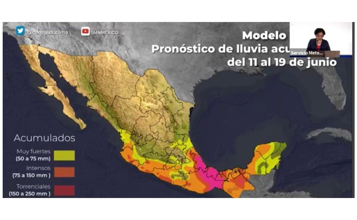 Por baja presión, pronostican lluvias fuertes y torrenciales en Oaxaca hasta el próximo martes