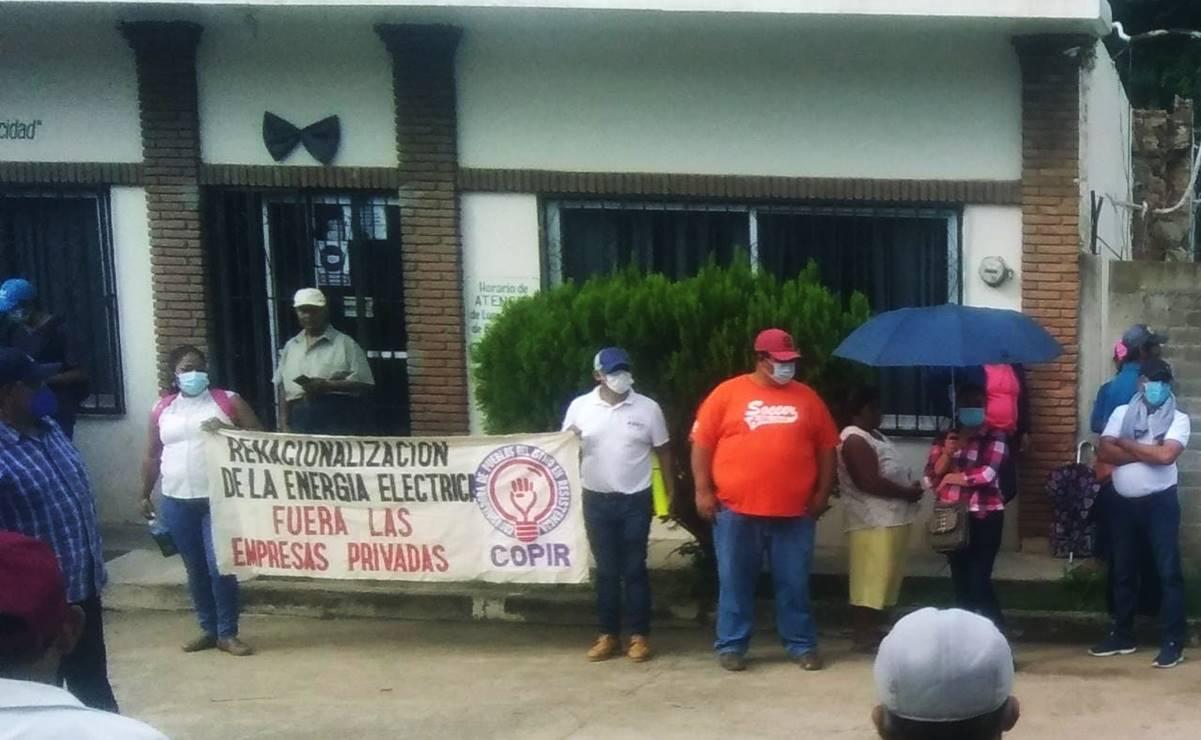 Toma Coordinadora de Pueblos en Resistencia instalaciones de la CFE en el Istmo de Tehuantepec