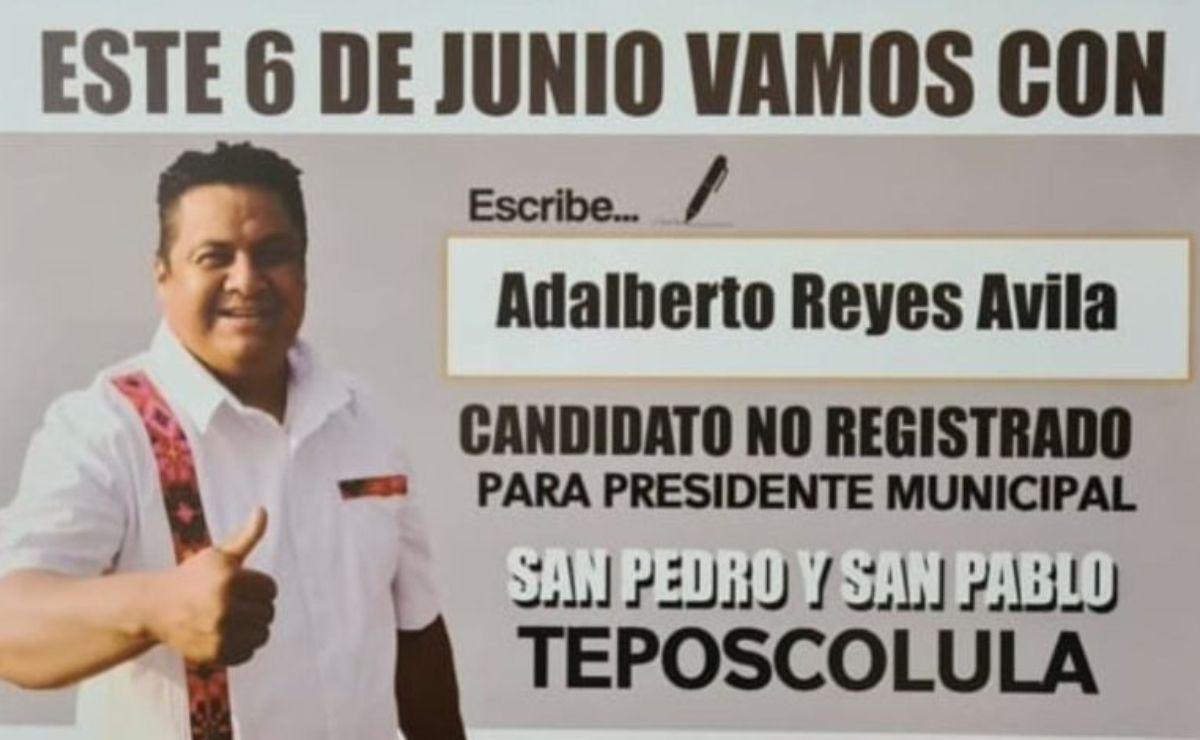 Adalberto Reyes, candidato sin registro que ganó como edil en Oaxaca, sólo con lapicero en mano