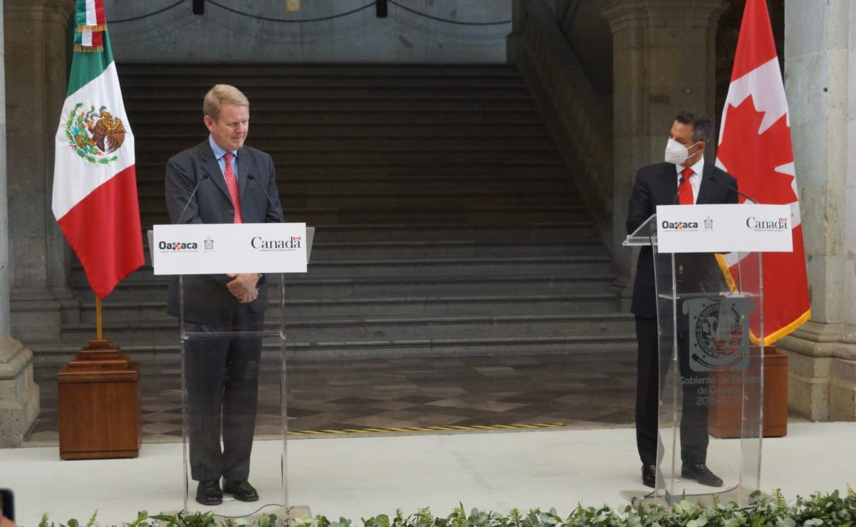 Oaxaca será sede cultural de Canadá, anuncian Murat y el embajador Graeme C. Clark