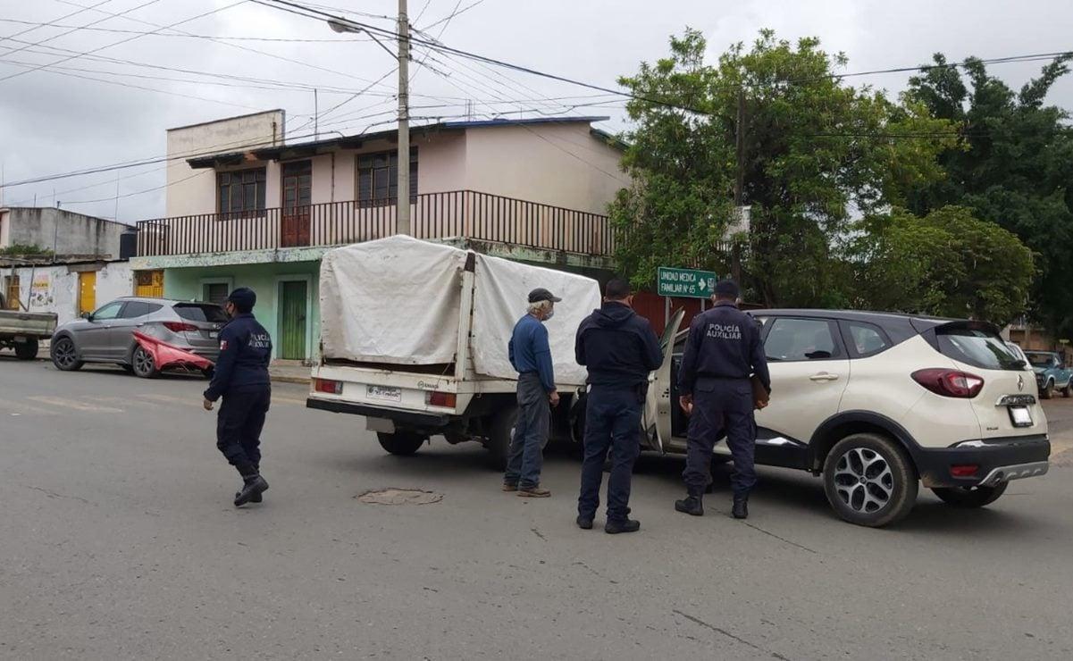 Cesan a 4 policías de Oaxaca, en presunto estado de ebriedad, por provocar accidente