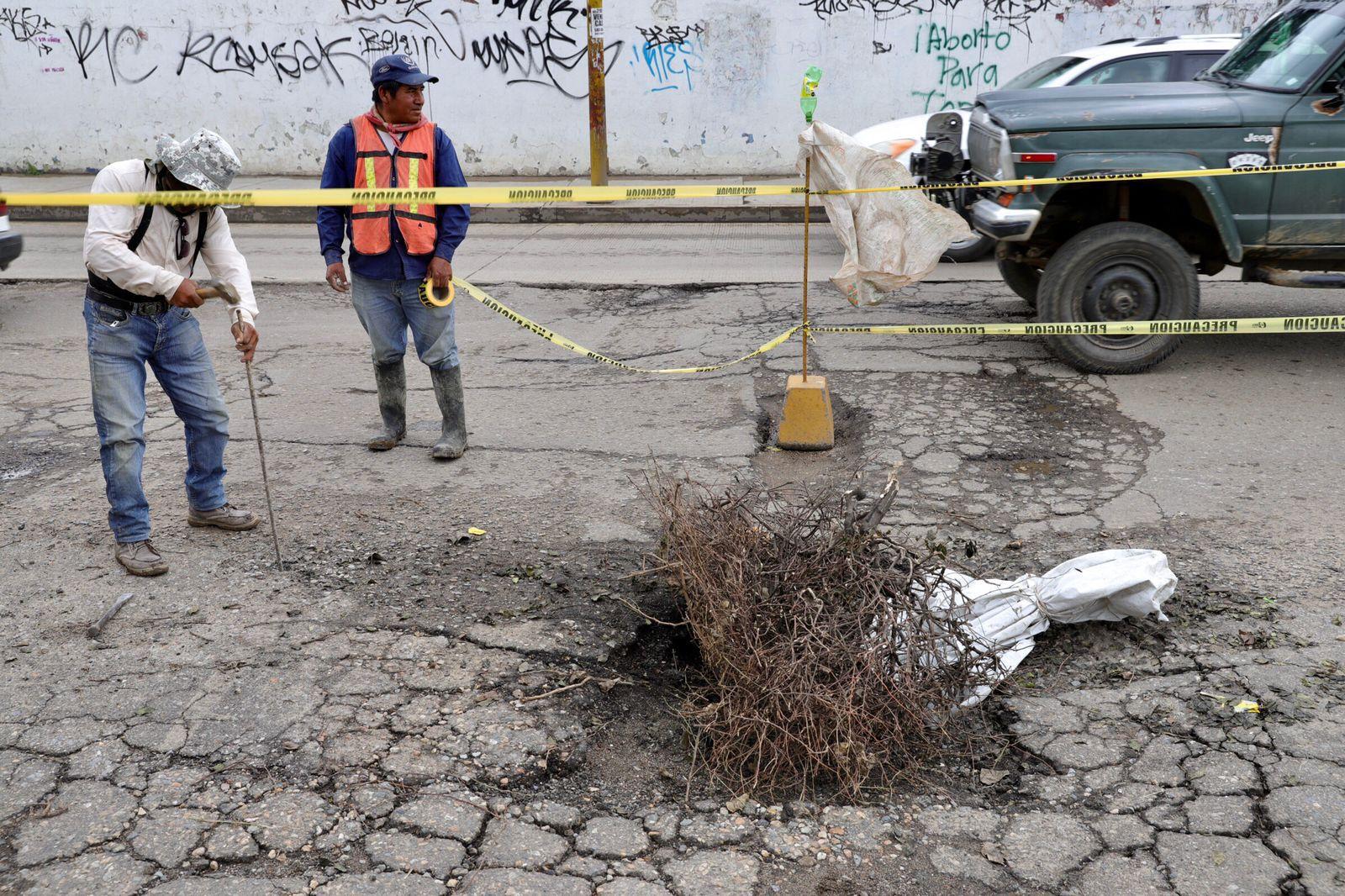 Dará SAPAO mantenimiento a socavón de Parque del Amor el próximo lunes; hay cuatro en la capital de Oaxaca