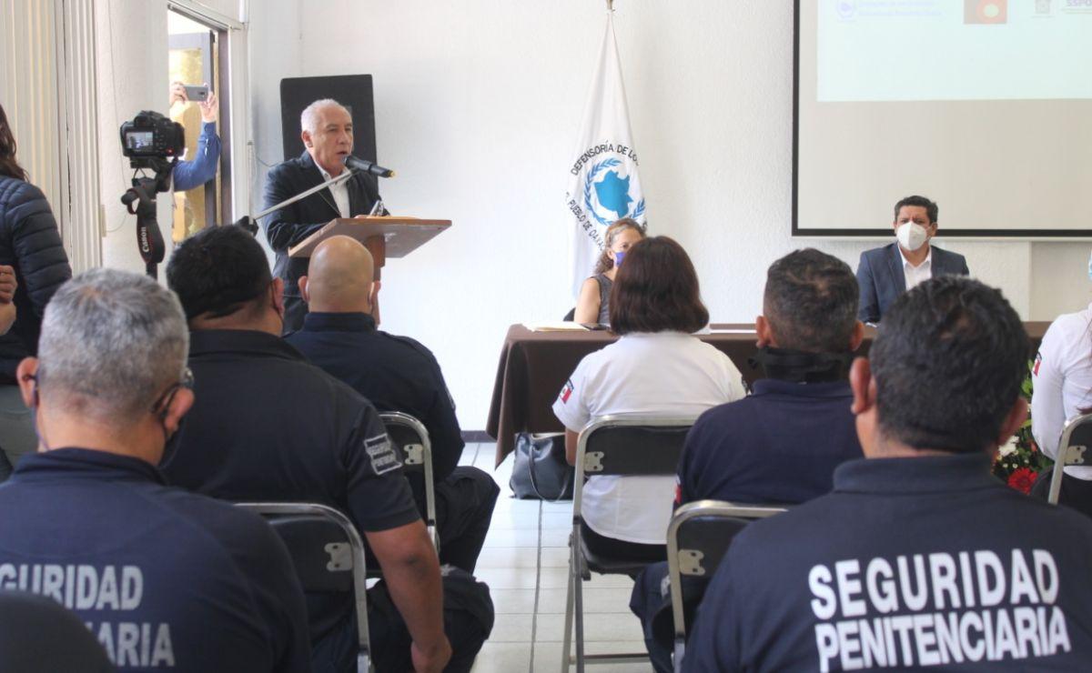 Dan cursos de Derechos Humanos a funcionarios del Sistema Penitenciario en Oaxaca