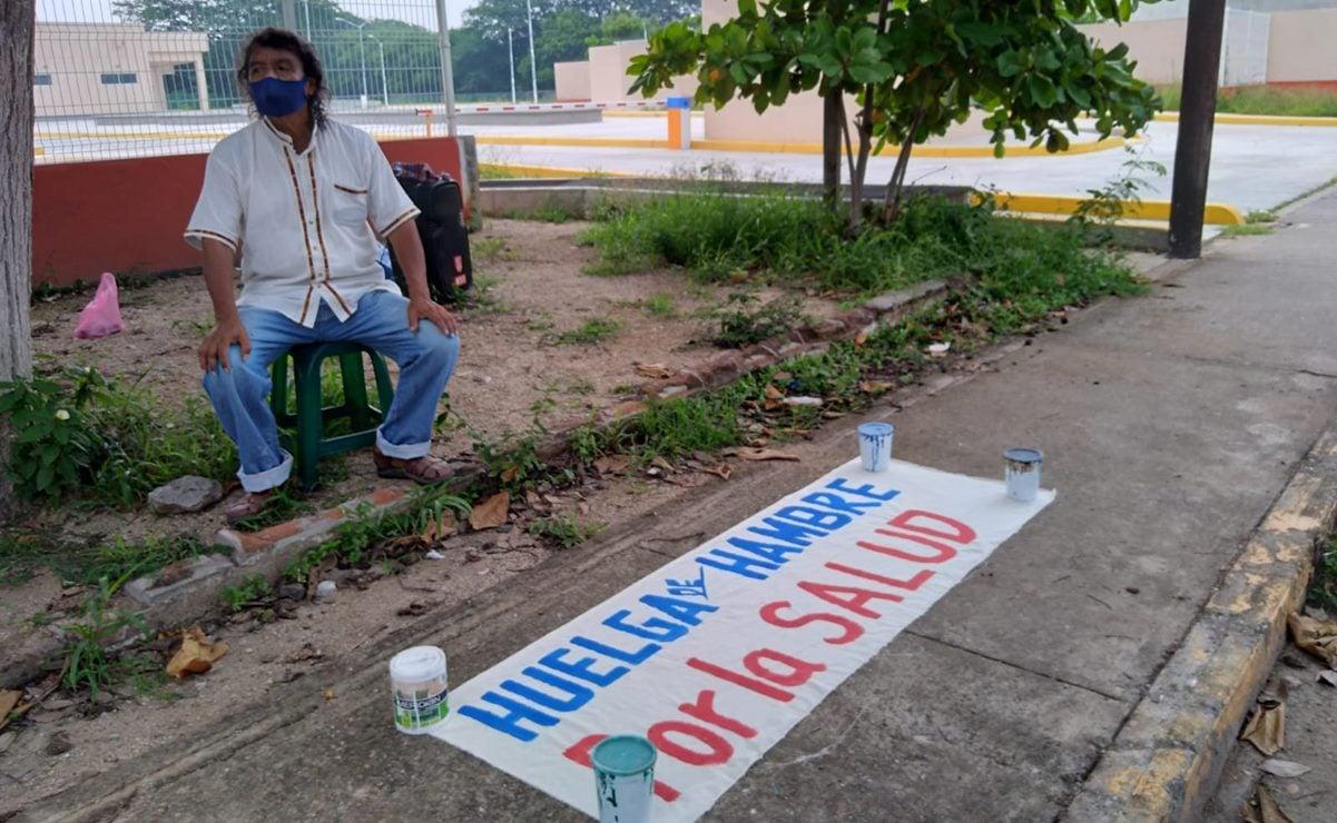 Activista de Juchitán arranca huelga de hambre de 12 horas por cierre de hospital Covid-19 del Insabi