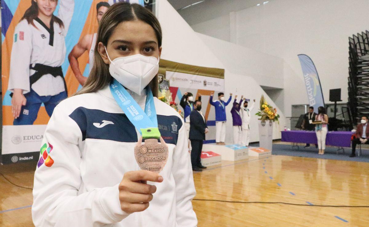 Equipo de Oaxaca gana oro y bronce en taekwondo de Juegos Nacionales Conade