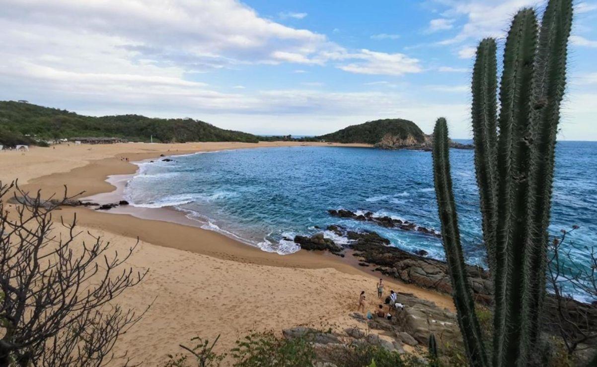 Arrastra mar a cuatro bañistas en la Costa de Oaxaca; hay una persona muerta y una desaparecida