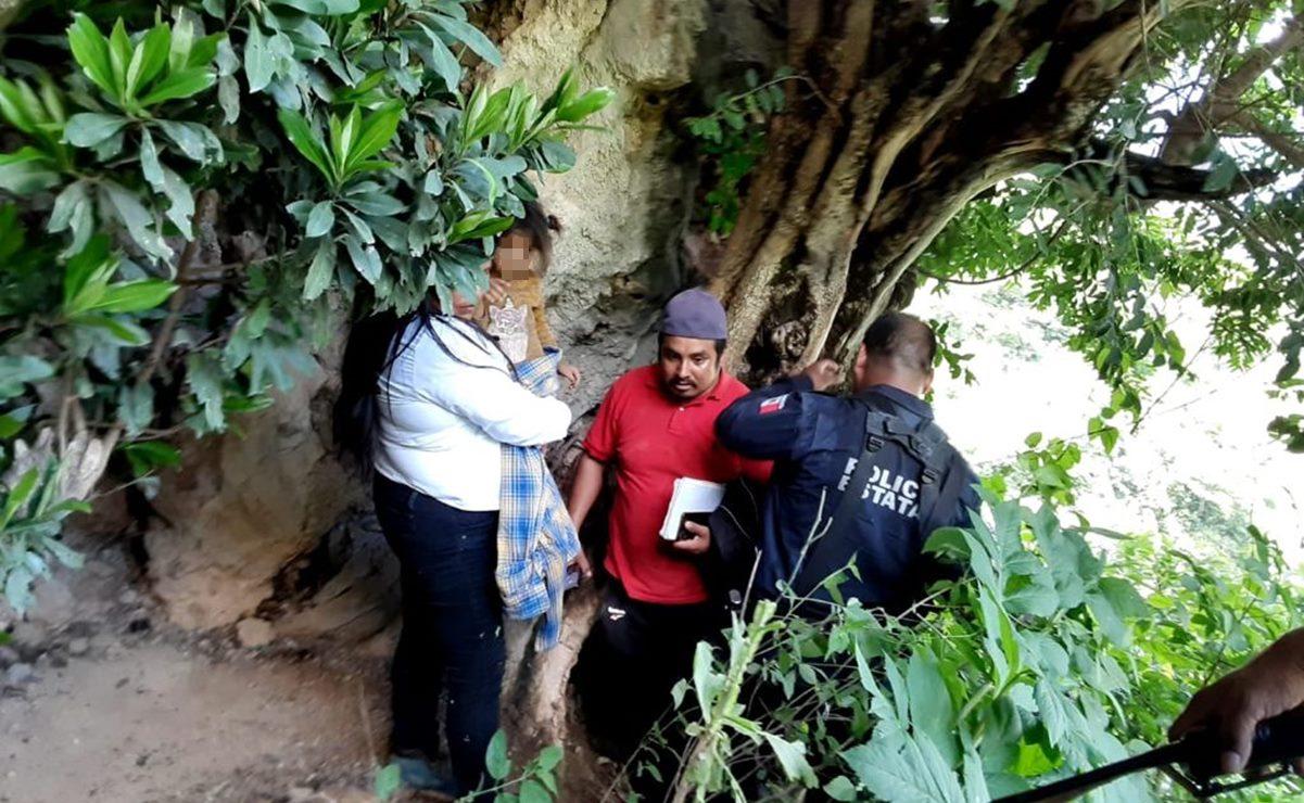 Localizan en cueva de la Sierra Sur de Oaxaca a niña de 2 años y 11 meses por la que se activó Alerta Rosa