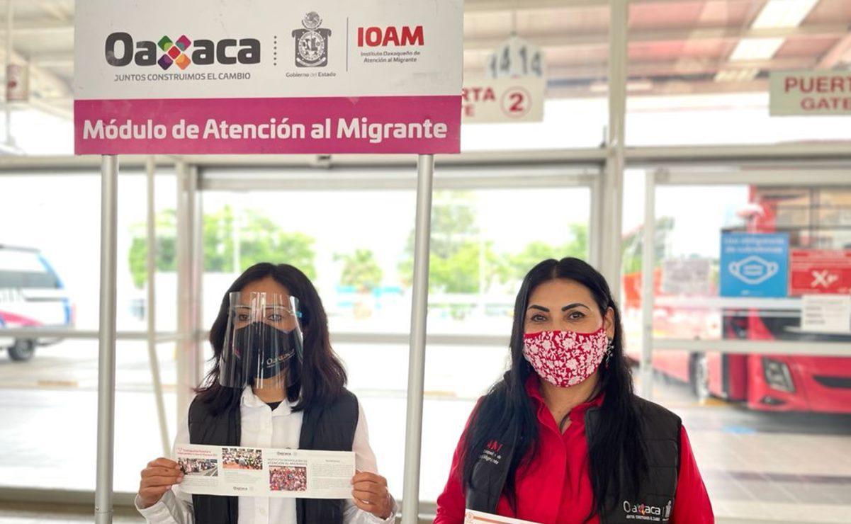 Instalan módulo de atención al migrante en la capital; se espera retorno de hasta 50 mil oaxaqueños