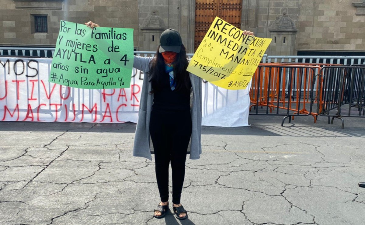 """Malena exige reconexión para Ayutla y captura de su quinto agresor; pide a AMLO ayuda """"por humanidad"""""""