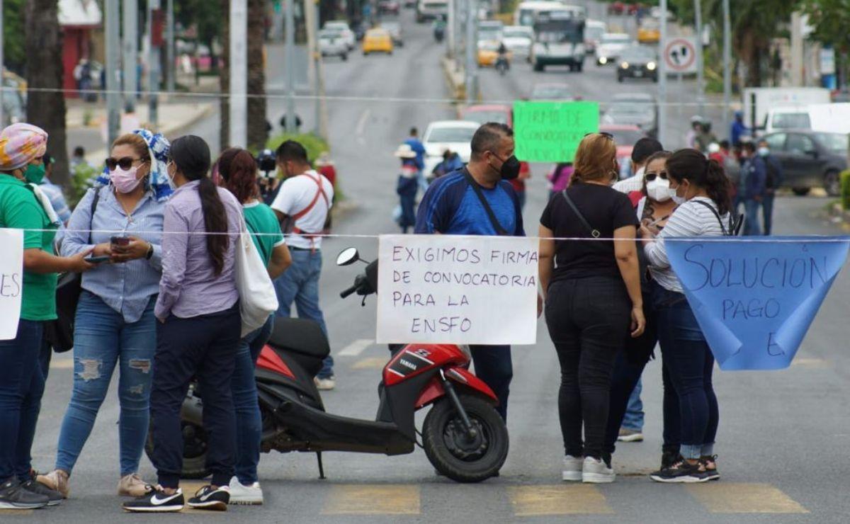 Escuela Normal Superior de Oaxaca anuncian jornada de movilizaciones; piden mesa con autoridades
