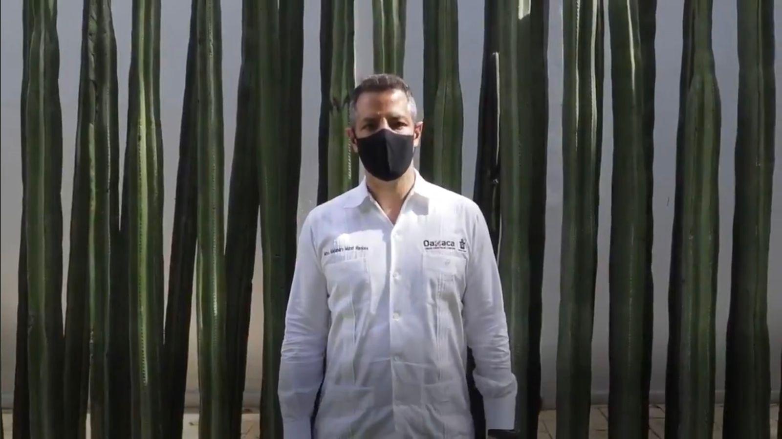 Pide Murat a Consejo de Salubridad que Oaxaca pase a semáforo amarillo ante aumento de casos de Covid-19