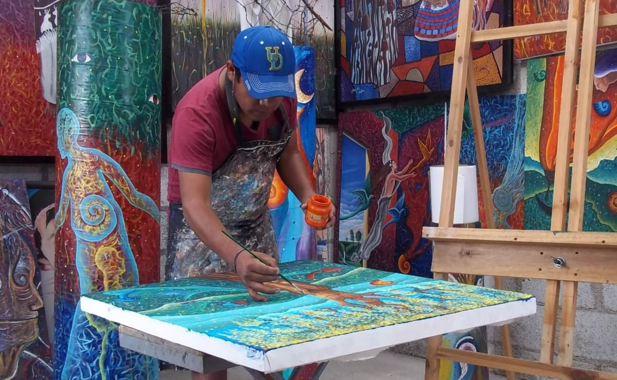 Arte con sentido comunitario: artistas mazatecos de la Cañada presentan exposición colectiva