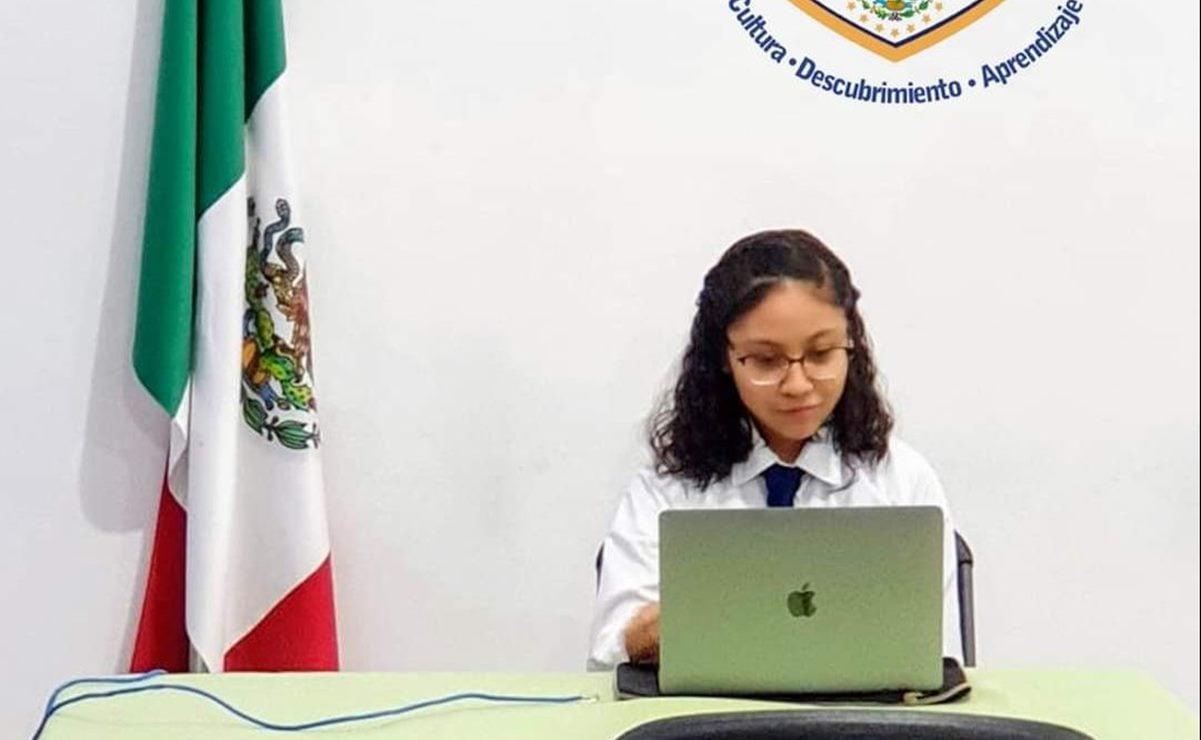 Adolescente zapoteca de Oaxaca gana primer lugar en Feria Mundial de Ciencia en Indonesia, con corto sobre micromachismos