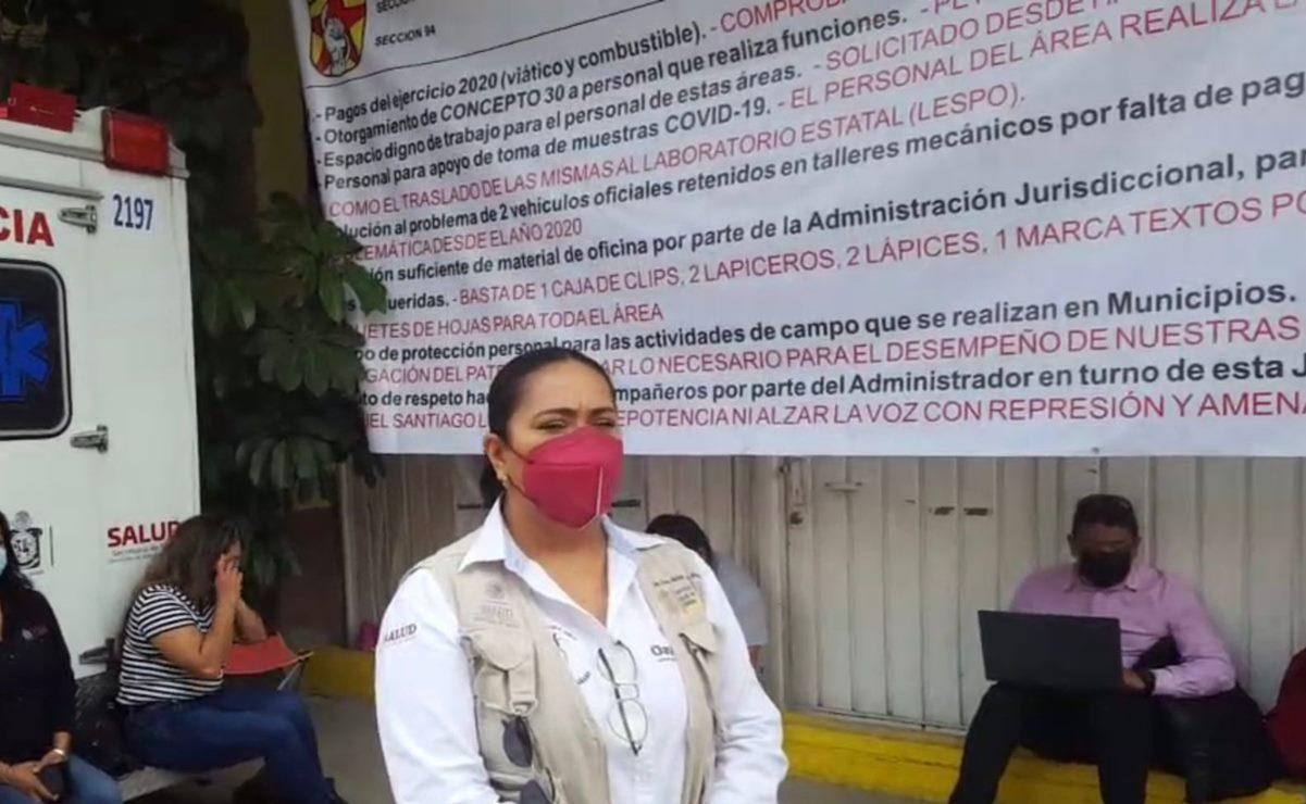 Trabajadores de Vigilancia Epidemiología toman Jurisdicción 1 de los Servicios de Salud de Oaxaca
