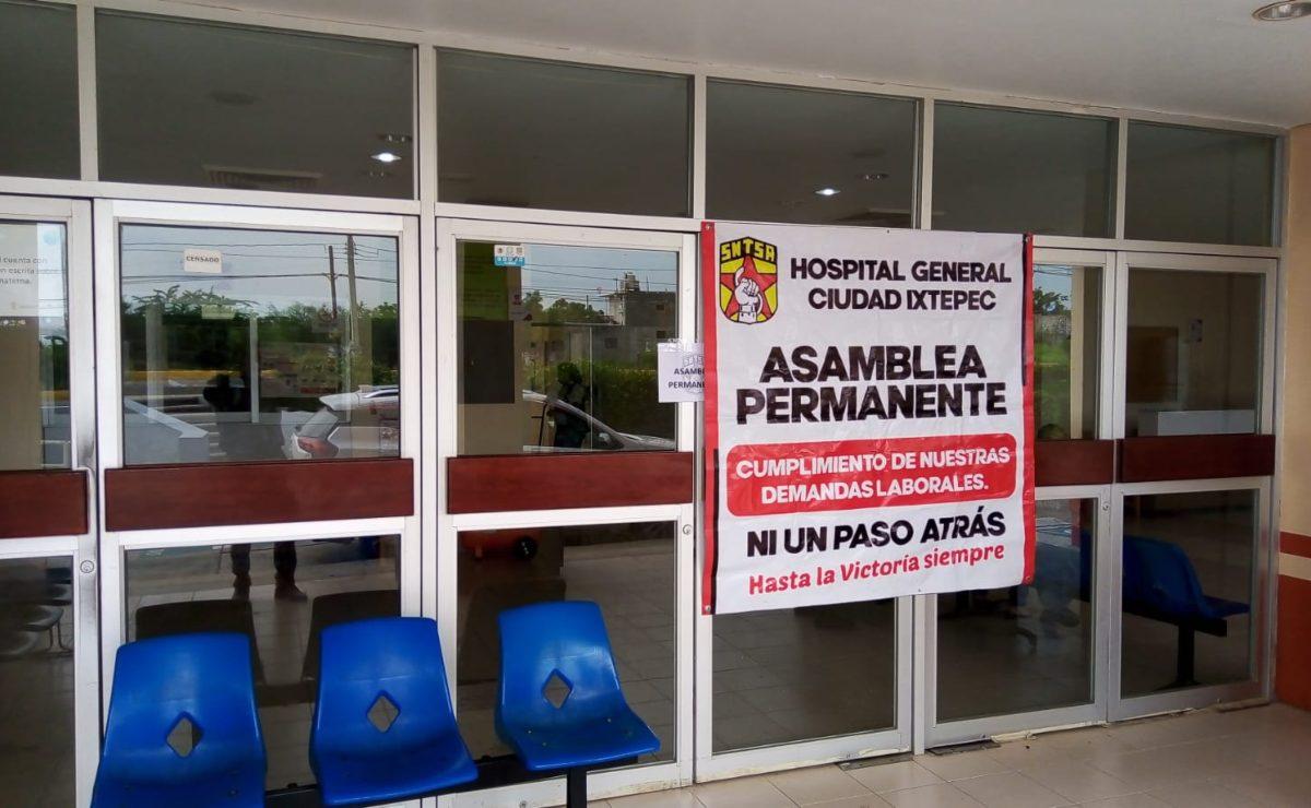 En plena tercera ola, hospital de Ixtepec cumple 21 días en paro y sin condiciones para pacientes Covid-19