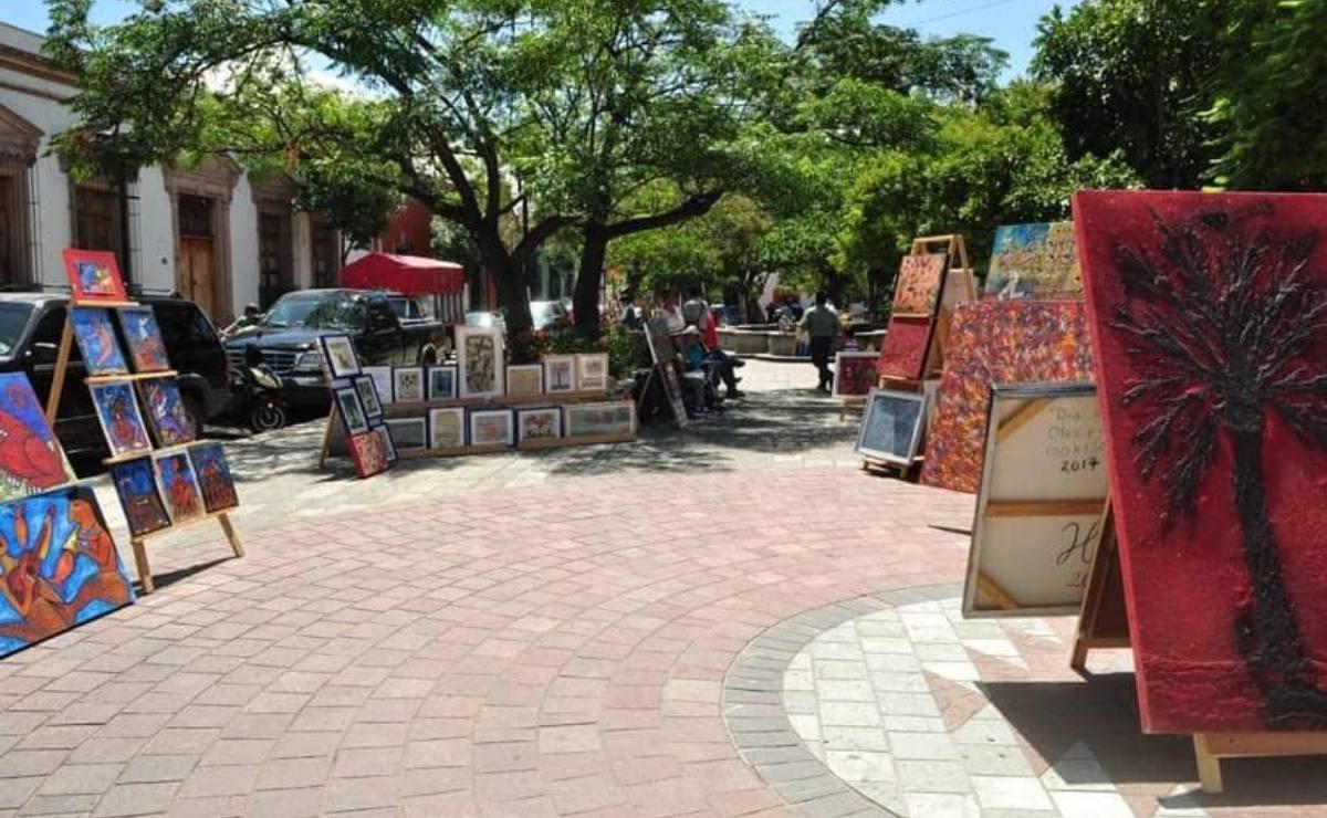 Operativo contra ambulantes afecta a 30 artistas del Jardín Labastida; piden que se les permita seguir