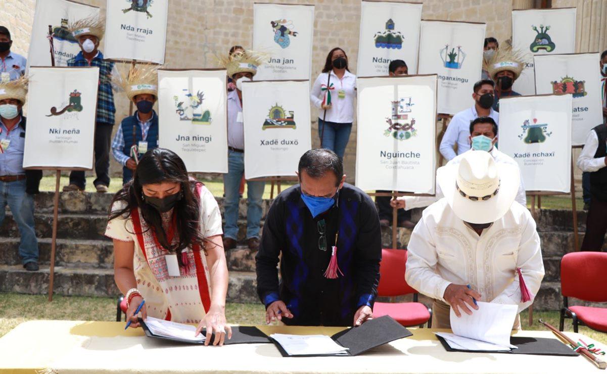 Firman gobierno de Oaxaca convenio con 19 pueblos chocholtecos, para salvar su lengua de la extinción