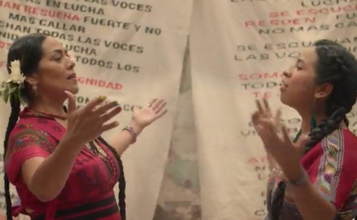 """Estrena Lila Downs """"Pueblos"""", en colaboración con la cantautora maya Sara Curruchich"""