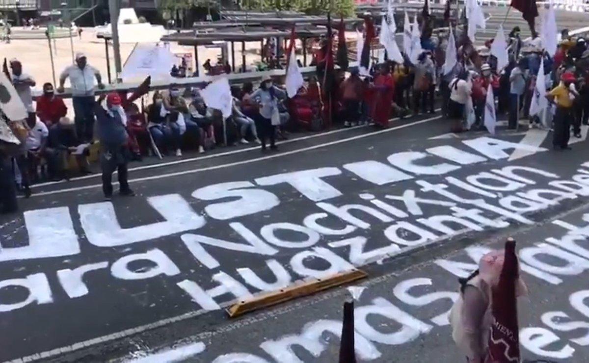 Desde Oaxaca, Caravana por la Verdad y la Justicia llega a la FGR en la Ciudad de México