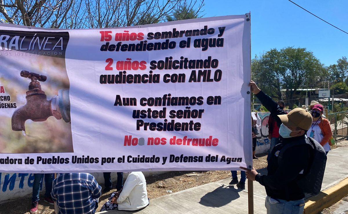 Para defender su agua, 16 comunidades zapotecas de Oaxaca exigen audiencia con AMLO