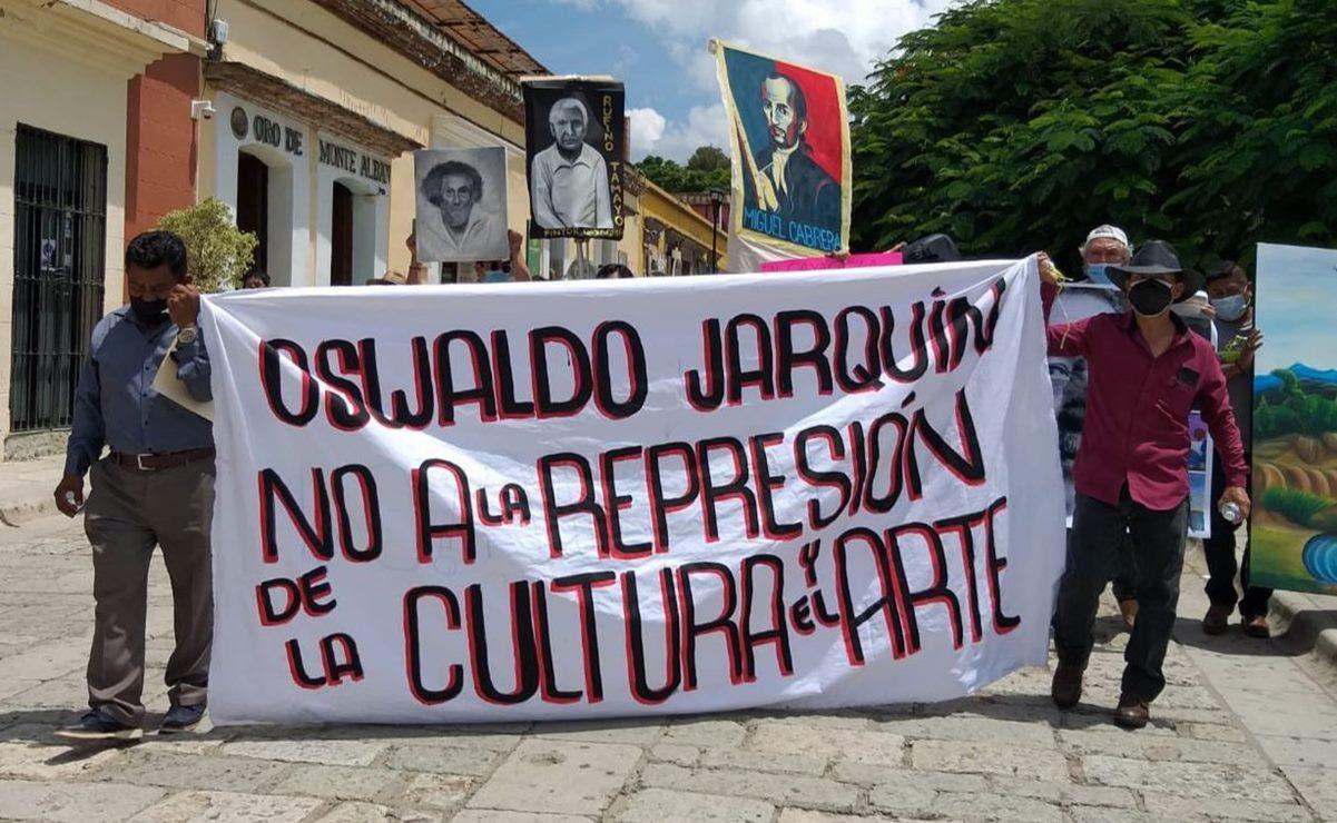 Artistas plásticos exigen a edil de la ciudad de Oaxaca que se les permita volver al Jardín Labastida