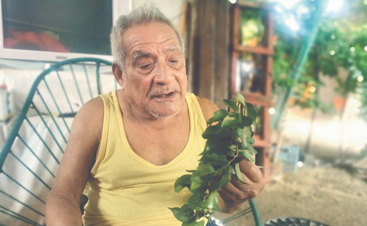 Cándido Orozco, el zapoteco que arranca bellas melodías a simples hojas de laurel