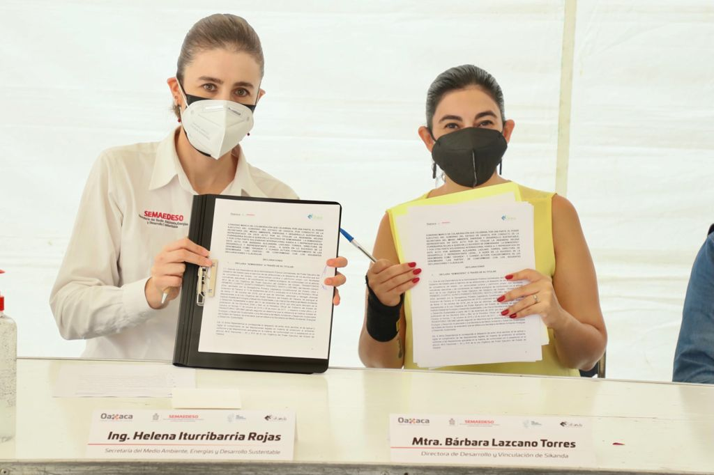 Gobierno de Oaxaca firma convenio con asociación SiKanda, para dignificar labor de recicladores