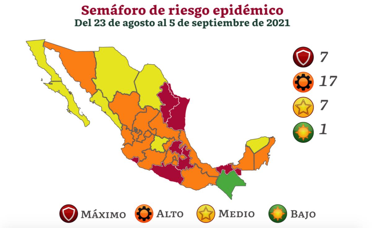Se queda Oaxaca en fase naranja de semáforo de riesgo de Covid-19; confirman 449 nuevos casos