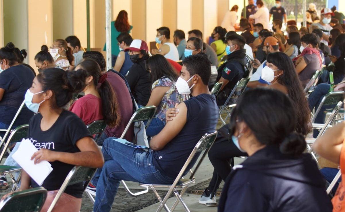Aplicarán segunda dosis Sinovac a personas de 30 a 39 años en municipios de Valles Centrales, Oaxaca
