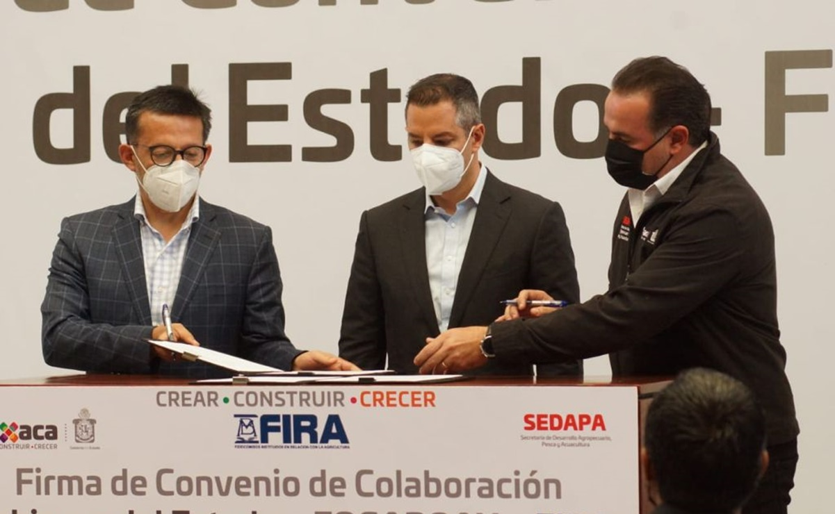 Firma Gobierno de Oaxaca convenio con FIRA, para otorgar créditos por 170 mdp para ganaderos y agricultores