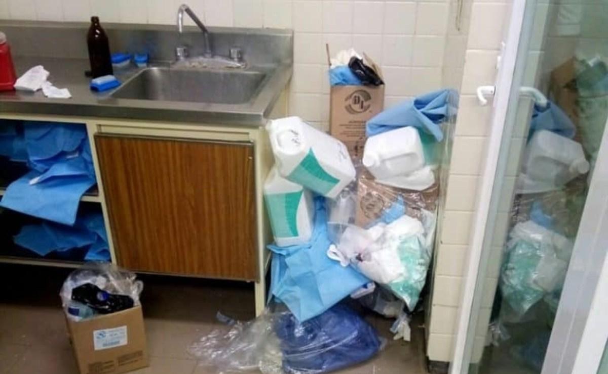 Denuncian saturación de basura en hospital de Juchitán, ante paro de labores de empleados de limpieza