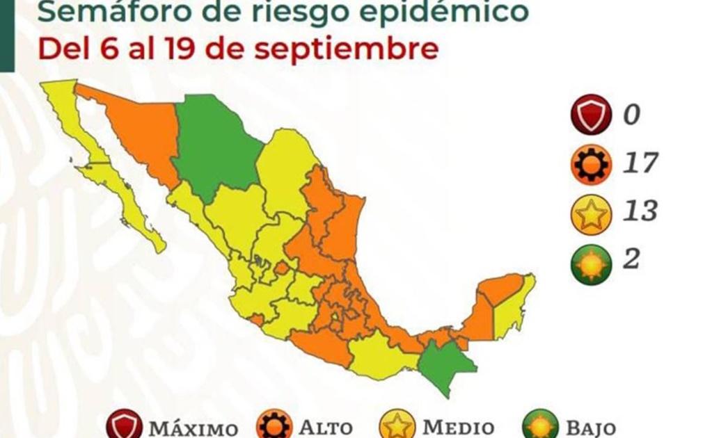 Tras casi dos meses en naranja por aumento de Covid-19, regresa Oaxaca a semáforo amarillo