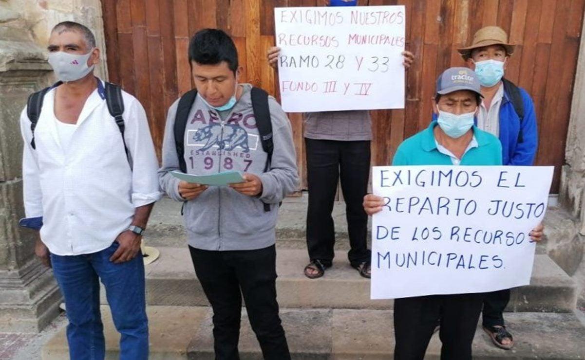 Lachitá, agencia de Betaza en la Sierra Norte de Oaxaca, exige entrega de recursos de los ramos 28 y 33