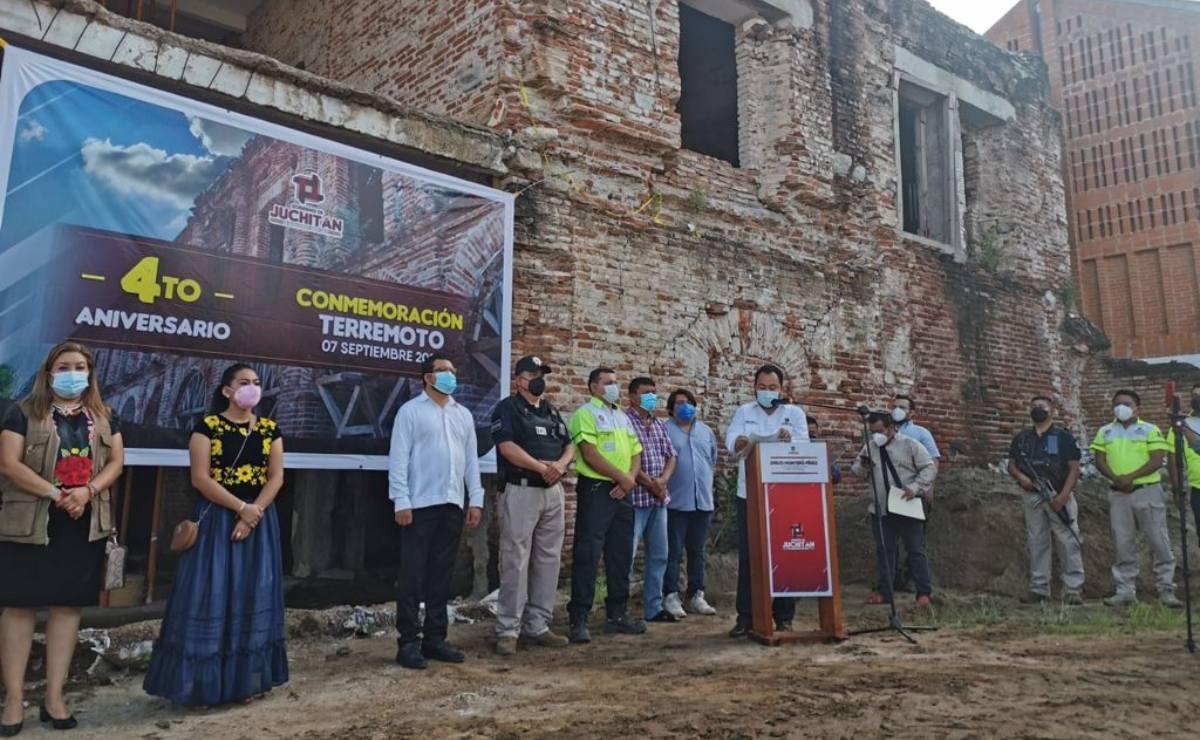 Con actos solemnes recuerdan en el Istmo a víctimas del terremoto que devastó a Oaxaca hace 4 años