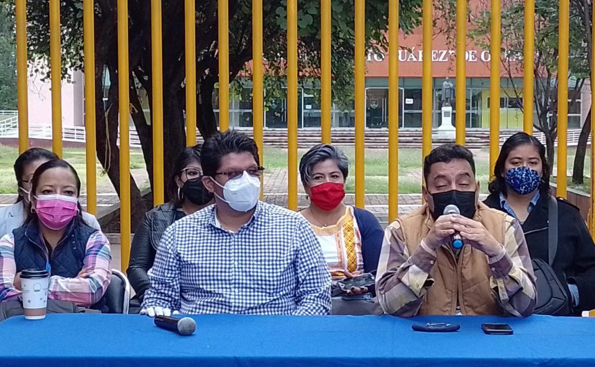 Sindicalizados del STEUABJO exige pago de 12 mdp en bonos al gobierno de Oaxaca; advierte bloqueos