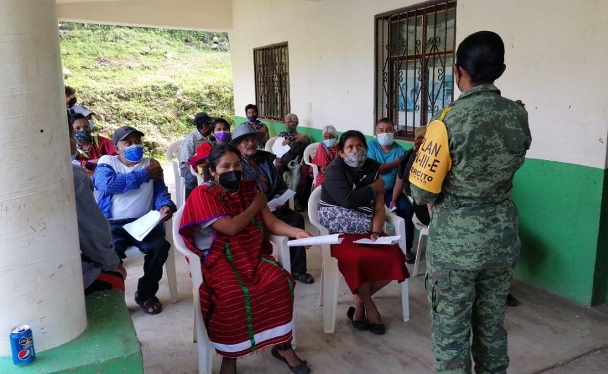 Vacunas anti Covid no han subido a la zona Triqui Alta de Oaxaca; 14 comunidades siguen en espera de la dosis