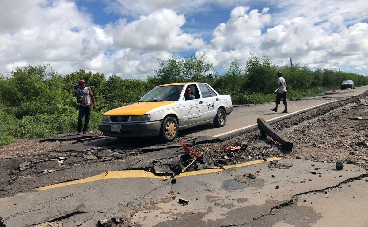 Lluvias causan desprendimiento de nueva carretera de Unión Hidalgo, Oaxaca; obra costó 14 mdp