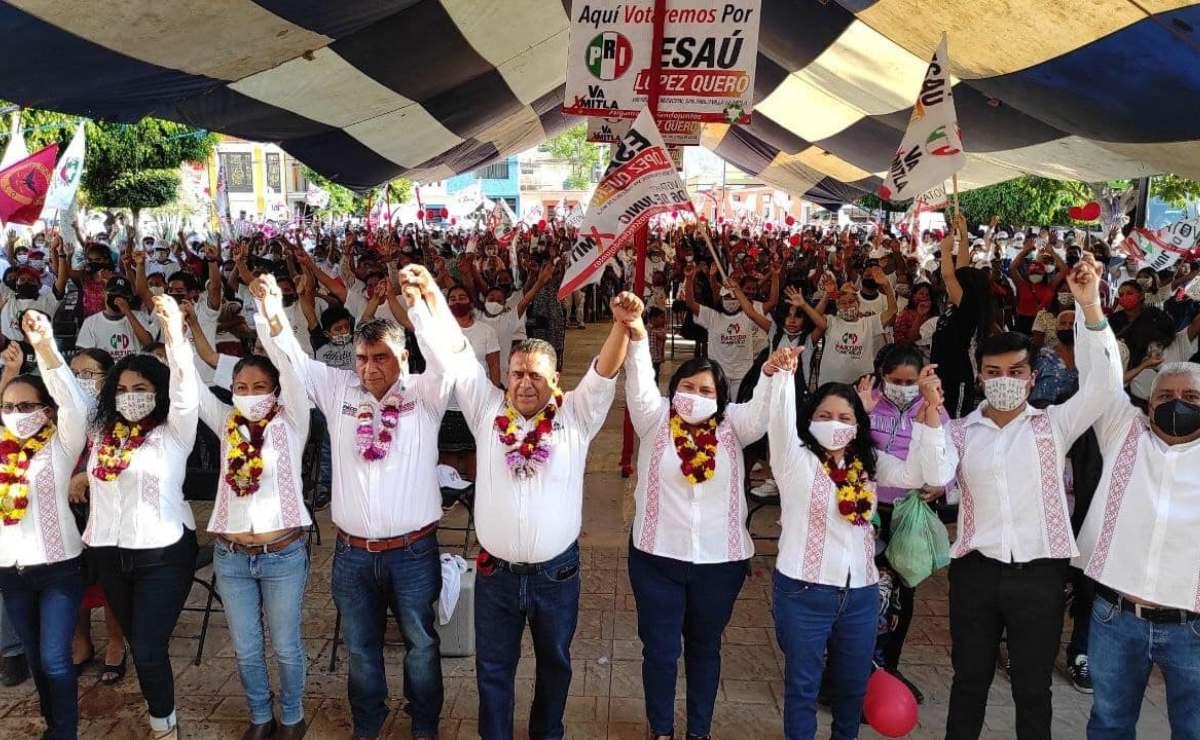 Sanciona INE al PRI y PRD por rebasar gastos de campaña en Mitla; va PAN por nulidad de elección de edil