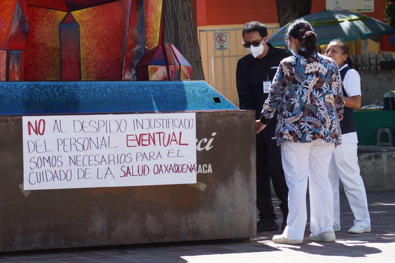 Trabajadores de Salud de Oaxaca inician jornada de lucha para exigir suficiencia presupuestal