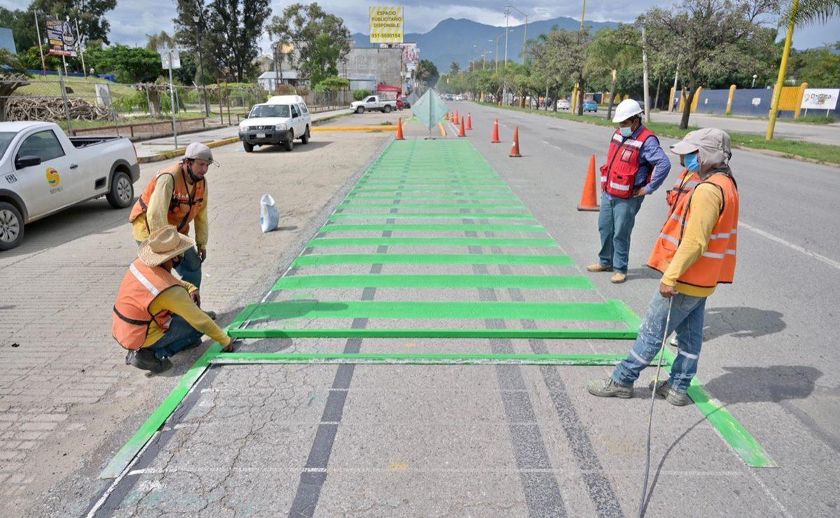 Arrancan obras de Bici Ruta en zona conurbada de la ciudad de Oaxaca; proyecto impulsa movilidad sustentable: Semovi