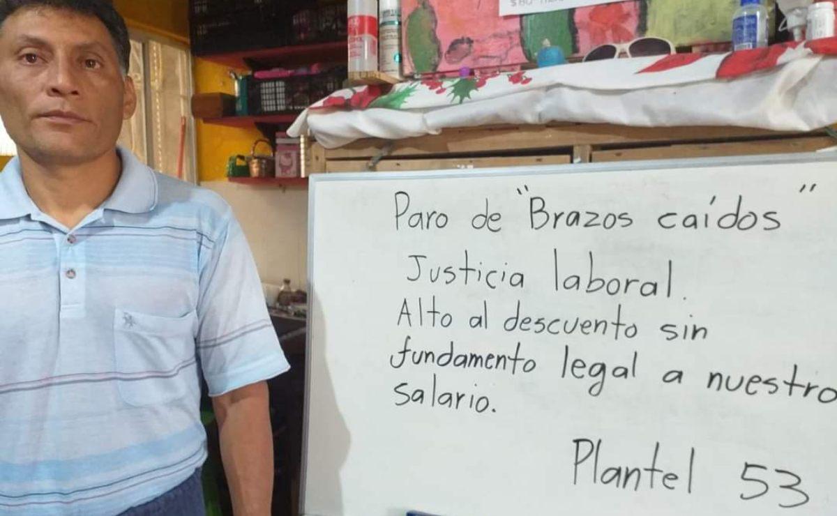 Instituto de Bachillerato de Oaxaca acuerda devolver retenciones a trabajadores; dará vales de despensa