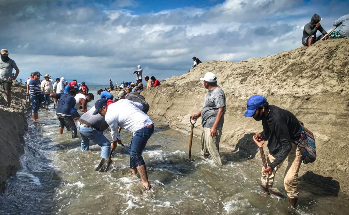 Pueblos del Mar, en el Istmo de Oaxaca, piden ayuda para drenar laguna que inunda sus hogares